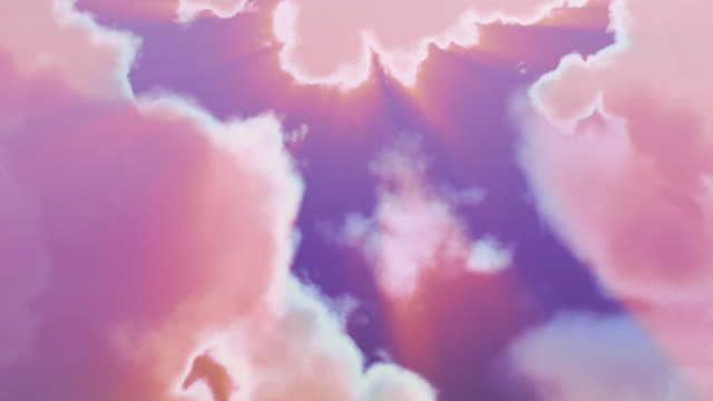 loopable, clouds - pink colour stock videos & royalty-free footage