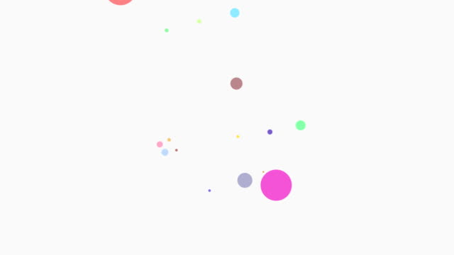 loopable colors particles - multicolore video stock e b–roll