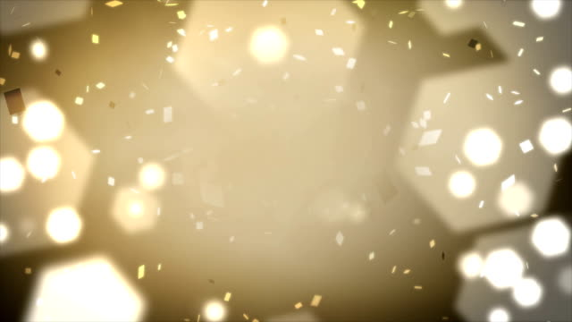 loopable confetti and lights background - confetti stock videos & royalty-free footage