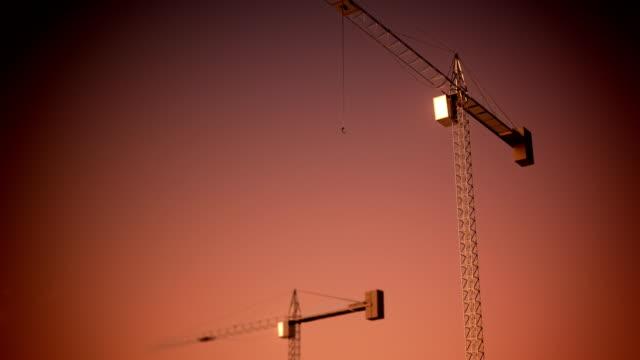 loopable construction crane - lyftkran bildbanksvideor och videomaterial från bakom kulisserna