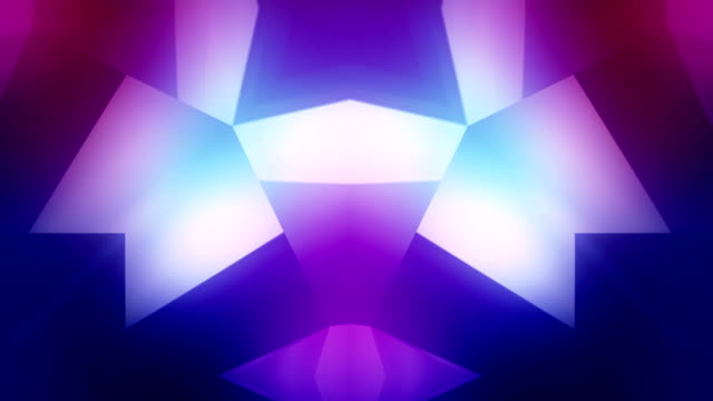 loopable crystal background - kaleidoscope pattern stock videos & royalty-free footage