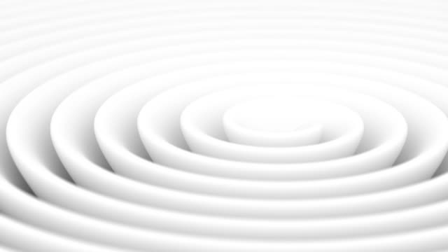 4k. loopable. endless rotation of the white helix. - concentric stock videos & royalty-free footage