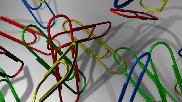 Loopable, Falling Multicolor Paper Clips