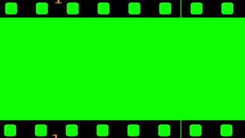 vidéos et rushes de rouleau de film bouclables incrustation chrominance - pellicule photo