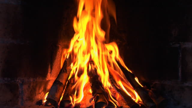 loopable: fireplace. 1080p + audio - campfire stock videos & royalty-free footage