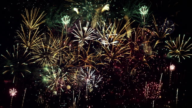 loopable fireworks - firework display stock videos & royalty-free footage