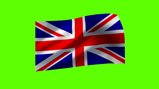 loopable flags of the world on textile (chroma key) - british flag stock videos & royalty-free footage