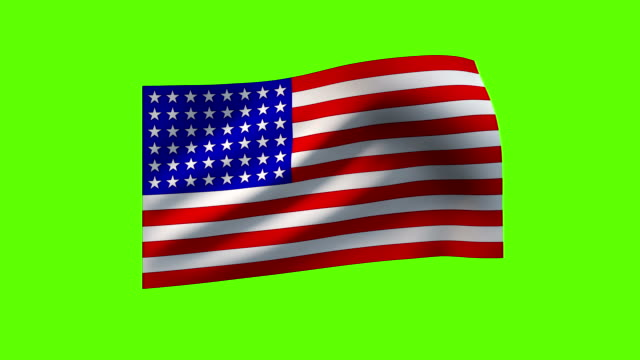 loopable flags of the world on textile (chroma key) - stars and stripes stock videos & royalty-free footage