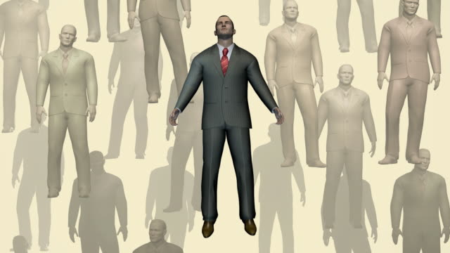 Loopable, Floating Businessmen, Fashion, Individuality Concept