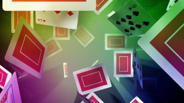 loopable, floating playing cards - dependency stock videos & royalty-free footage