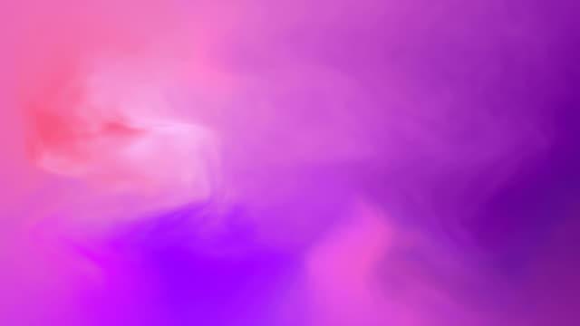 ループ可能な流れる紫色の抽象的なグラデーションの背景 - パステルカラー点の映像素材/bロール