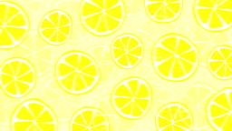 Loopable fresh and summery lemon pattern animation