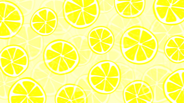 loopable fresh and summery lemon pattern animation - traditional lemonade stock videos & royalty-free footage