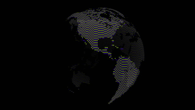 Loopable Globe rotation on black background