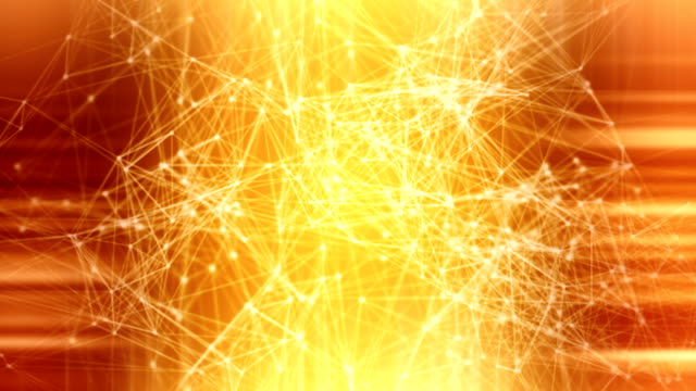 Loopable golden connections technology background