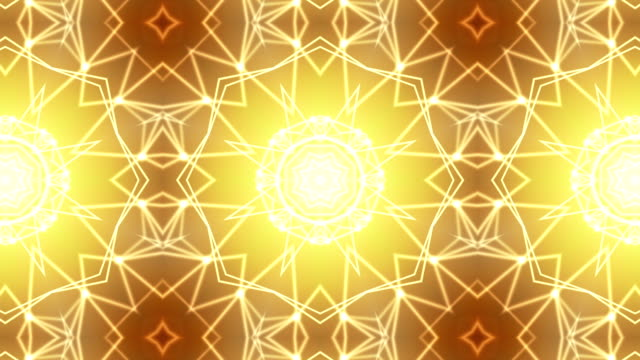 loopable golden kaleidoscope background - kaleidoscope stock videos and b-roll footage