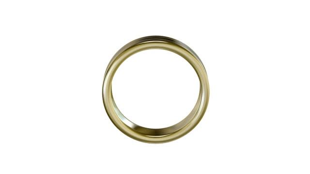 endlos wiederholbar goldenen ring hd - ehering stock-videos und b-roll-filmmaterial