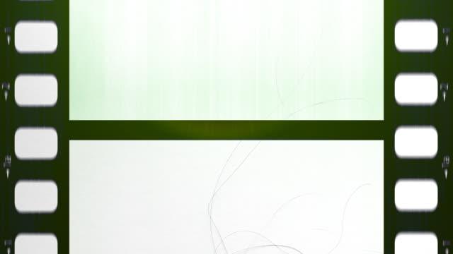 Loopable Green Film Frames