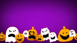 Loopable Halloween Animation with Text Space