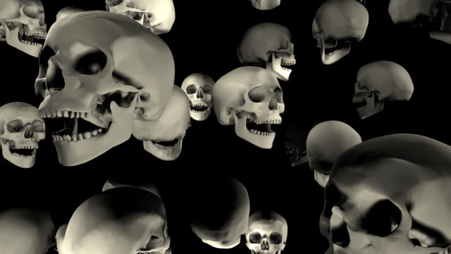 loopable, halloween, falling skulls - genocide stock videos & royalty-free footage