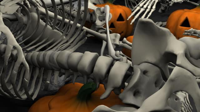 loopable, halloween, skeletons and pumpkins - genocide stock videos & royalty-free footage