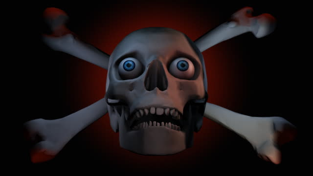 loopable, halloween, skull under moving lights - gothic stock videos & royalty-free footage