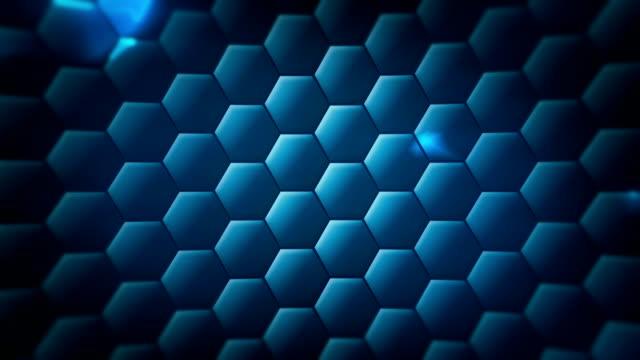 endlos wiederholbar hex technologie hintergrund - sechseck stock-videos und b-roll-filmmaterial