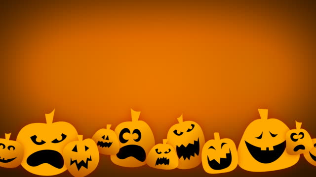 loopable jack o lantern animation - jack o' lantern stock videos and b-roll footage