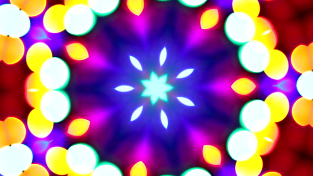 loopable kaleidoscope of colors. hd, ntsc, pal - kaleidoscope pattern stock videos & royalty-free footage