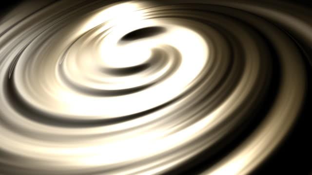 Endlos wiederholbar flüssige Gold Strudel