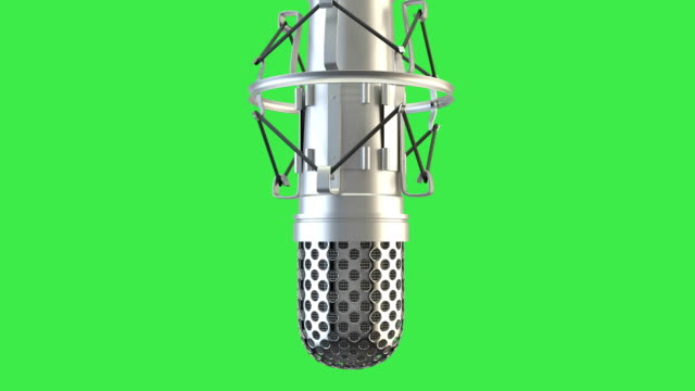loopable microphone spin - microphone stock videos & royalty-free footage