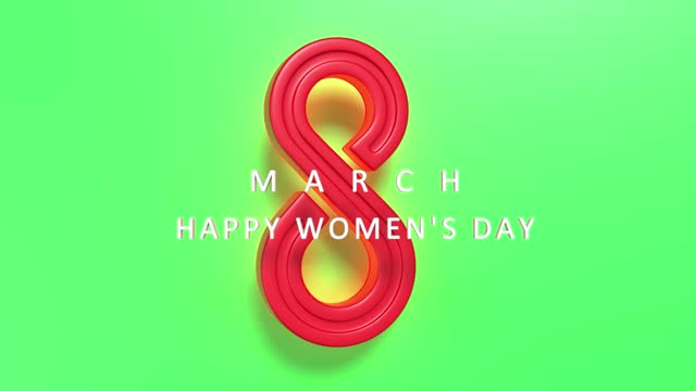 loopable modern number 8 to celebrate 8 march international women's day on green in 4k resolution - number 8 stock videos & royalty-free footage