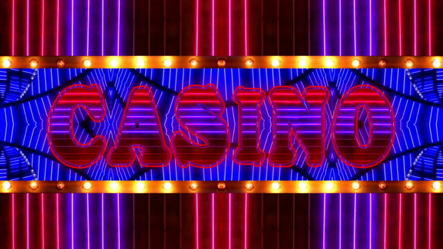 loopable neon casino marquee - jackpot stock videos and b-roll footage