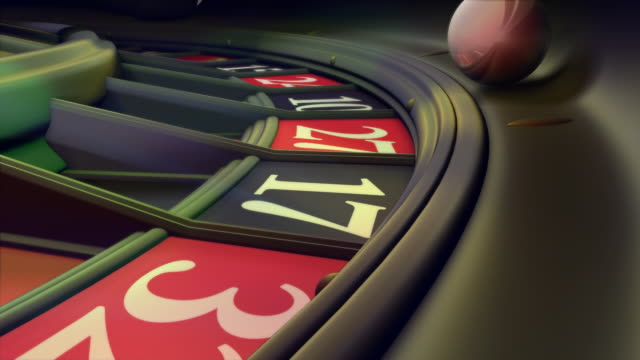 loopable, non-stop spinning roulette wheel - roulette stock videos & royalty-free footage