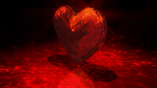 loopable, precious gem in heart shape - stone object stock videos and b-roll footage
