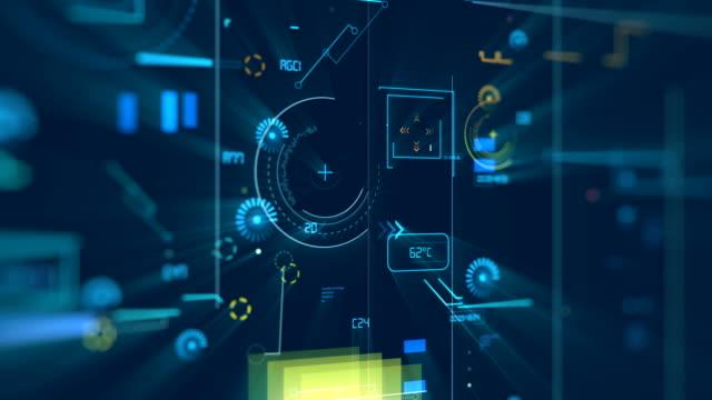 vídeos y material grabado en eventos de stock de 4k código de programa loopable. - digital animation