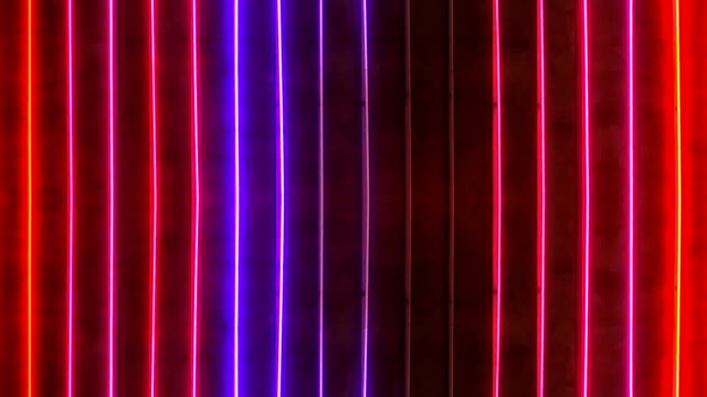 loopable red and blue neon sign - neon stock videos & royalty-free footage