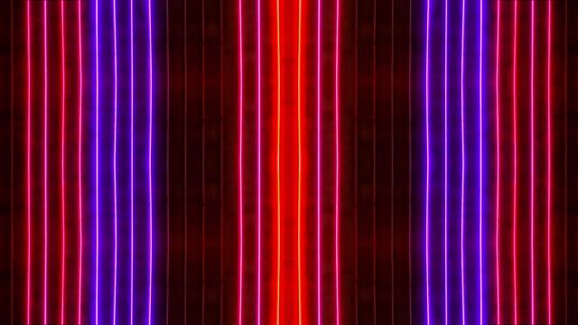endlos wiederholbar rot und blauer neon sign - um geld spielen stock-videos und b-roll-filmmaterial