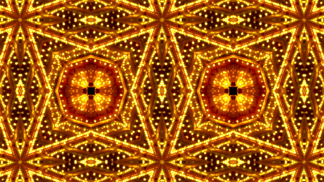 stockvideo's en b-roll-footage met loopable red and gold kaleidoscope lights frame - incandescent bulb