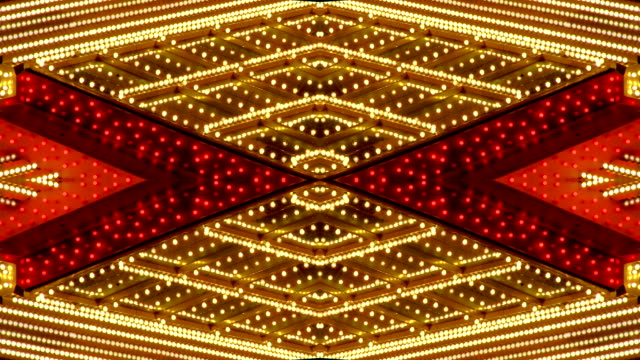 loopable red and white chasing lights frame - casino lights stock videos & royalty-free footage