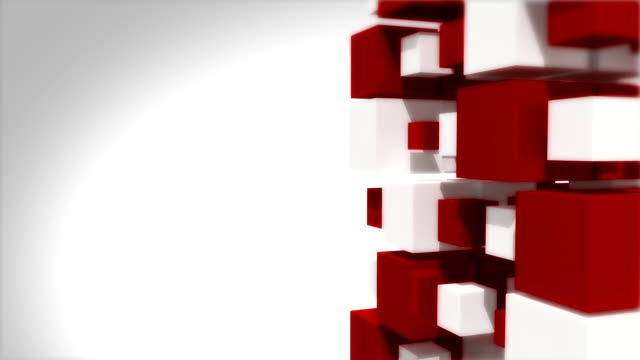 loopable red and white cubes background - depth marker stock videos & royalty-free footage