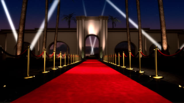 loopable red carpet event - searchlight stock videos & royalty-free footage
