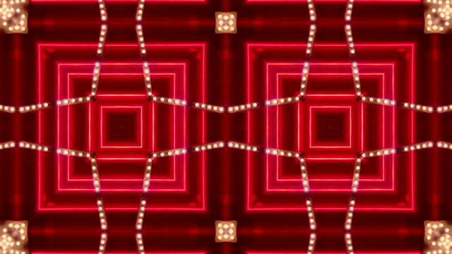 loopable red neon kaleidoscopic marquee - las vegas, nevada - neon stock videos & royalty-free footage