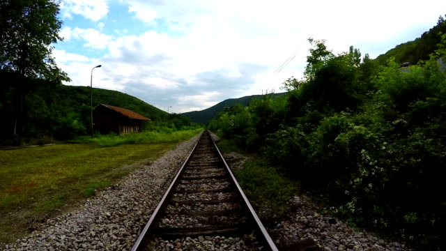 loopable ride over railroad track - railway track stock videos & royalty-free footage