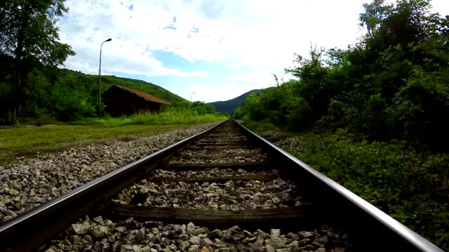 loopable ride over railroad track - railroad track stock videos and b-roll footage