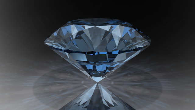 loopable, rotating blue diamond - stone object stock videos and b-roll footage