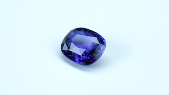 loopable, rotating blue sapphire - stone object stock videos and b-roll footage