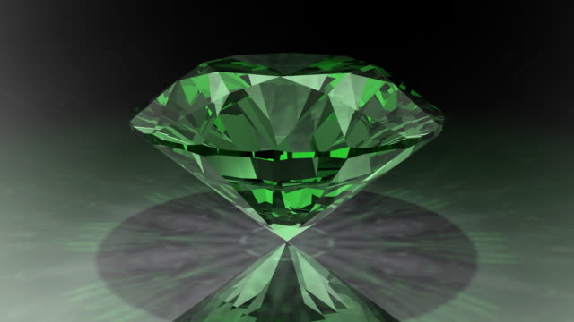 loopable, rotating green diamond - stone object stock videos and b-roll footage