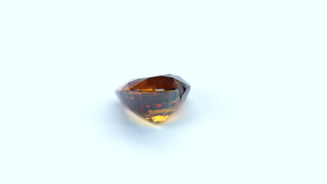 loopable, rotating yellow sapphire - precious gemstone stock videos & royalty-free footage