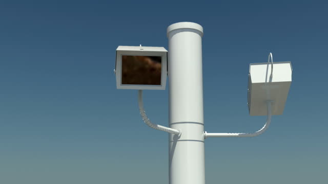 loopable security camera - big brother orwellian concept stock videos & royalty-free footage